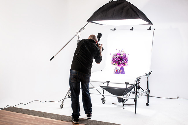 Product photography studio hire